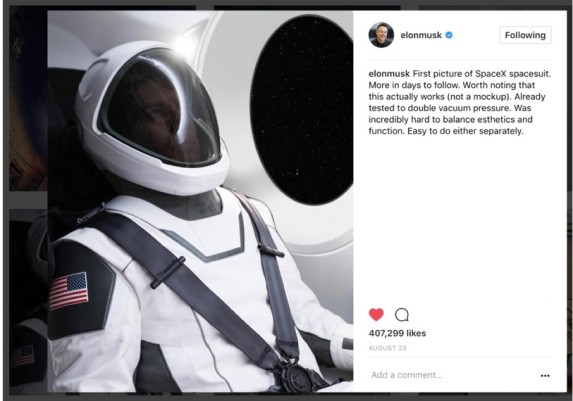 spacesuit by elon musk